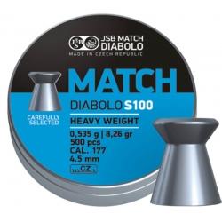 Пули JSB MATCH DIABALO S100 HEAVY WEIGHT (BLUE) 0,535g 4,50mm 500шт