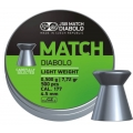 Пули JSB MATCH DIABOLO LIGHT WEIGHT (GREEN) 0,475g 4,50mm 500шт