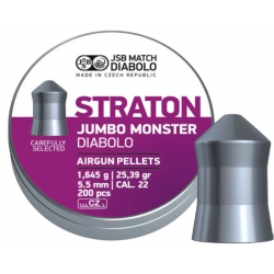 Пули JSB STRATON JUMBO MONSTER DIABOLO 1,645g 5,51mm 200шт