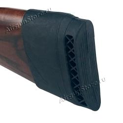 Тыльник для приклада 11 х 3,5 см, быстросъёмный (сапог), резиновый, чёрный/коричневый [TB9-001 / TA9-001]